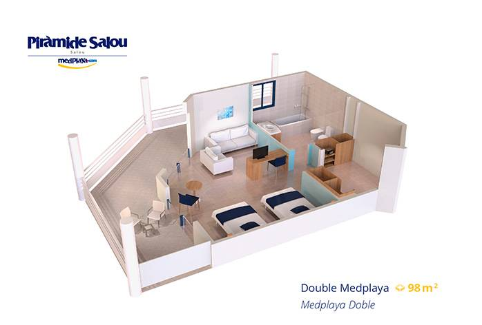 Medplaya Piramide Salou Doble Room