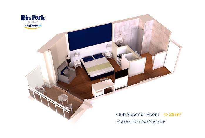 Club Superior Room RioPark Medplaya